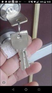 マンションの玄関ドアの鍵交換