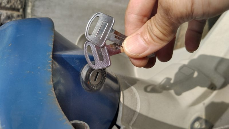 バイク鍵作成。