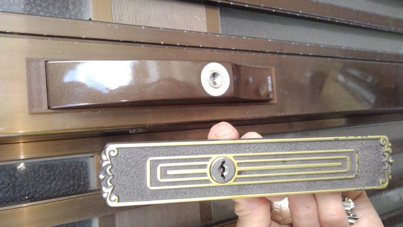 玄関引戸の鍵交換