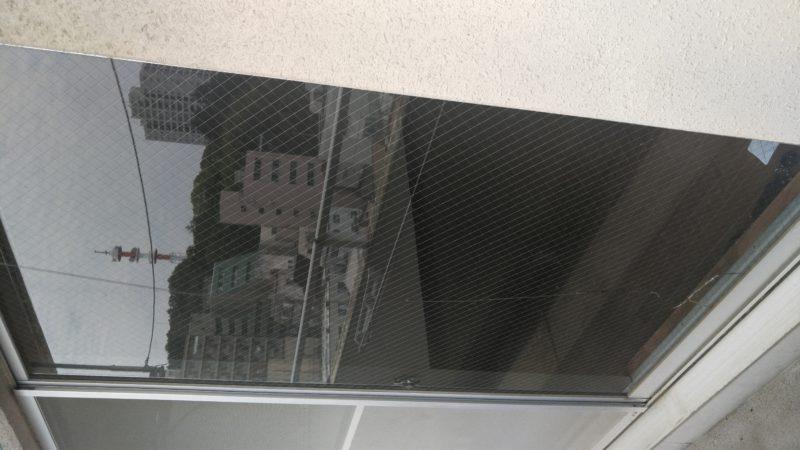 網入ガラスの割れ替え